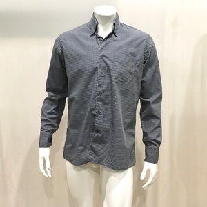 Canali Men's Black Checkered Dress Shirt